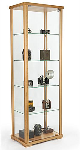 tempered glass curio cabinet display