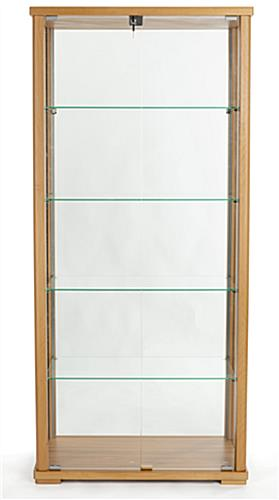 360° viewable tall glass display cabinet