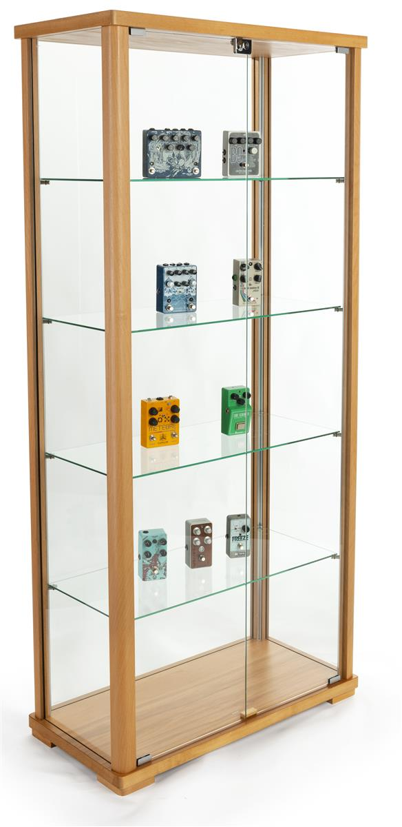 Tall Glass Display Cabinet Lockable Swing Style Doors 31 5 W