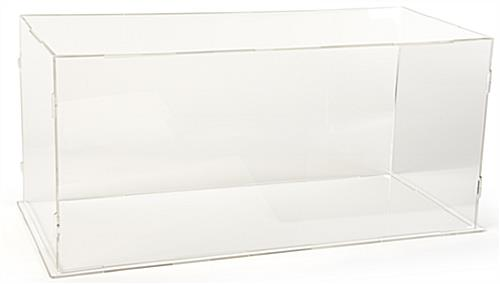Rectangular collapsible acrylic display box
