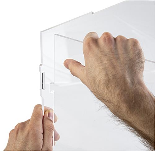 Easy assembly collapsible acrylic display box