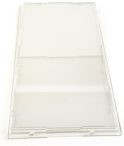 Flat packing collapsible acrylic display box