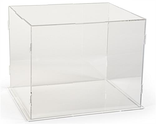 Large clear display riser case with acrylic construction