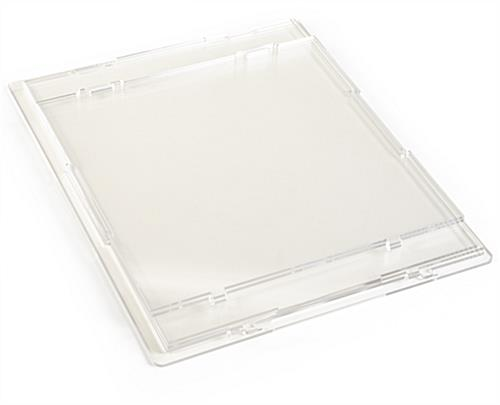 Flat pack large clear display riser case