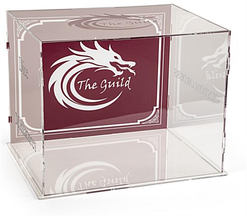 See-through 6-sided printed display riser case