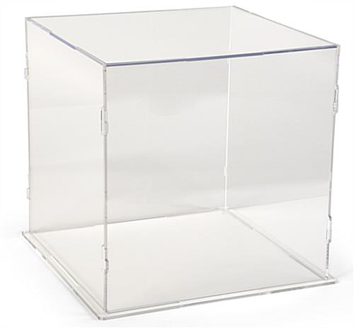 See-through acrylic folding plastic display cube