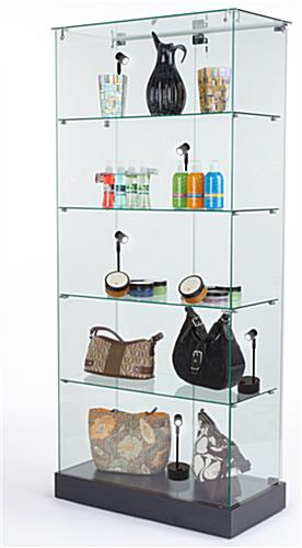 Display case spotlights are easily portable