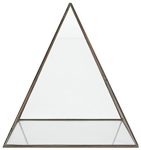 Large pyramid display box with 3mm glass thickness