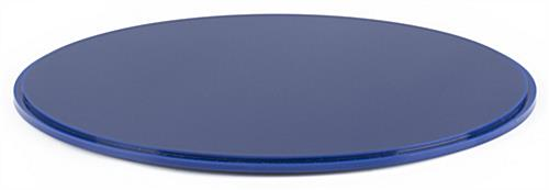 "12"" blue display base for DCR round cases with lift-off top"