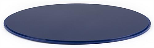 "Blue 16"" round display case base for DCR series with deep grooved edge to hold clear cylinder top in place"