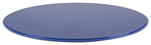 "Blue 20"" DCR series round plastic showcase base made of durable acrylic"