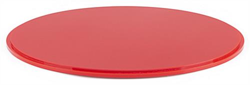 "12"" red base for DCR series round display cases with indentation around circumference of base"
