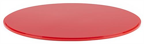 "DCR series 16"" diameter red lucite display base is made of a durable red acrylic"