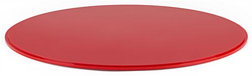 "20"" red DCR series round plastic display case base with 0.5"" thickness"