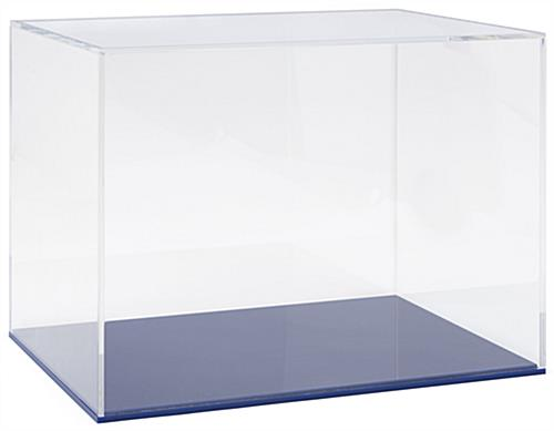 "16"" DCS series blue acrylic display base rectangular shaped"