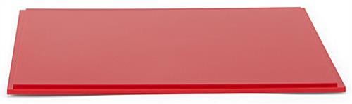 "12"" square red acrylic display base with indent along edge"