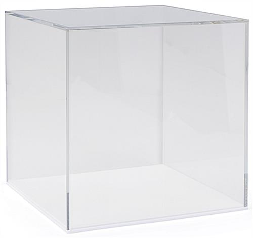 "White 12"" square display base only with easy lift-off cover"