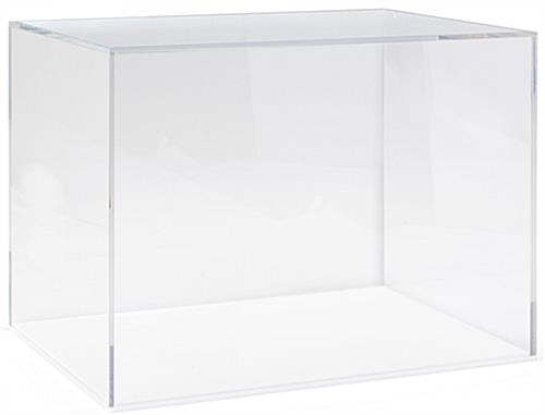 Acrylic helmet display box with lift-off cover