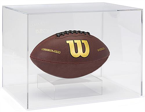 "Acrylic helmet display box with 0.5"" thick base"