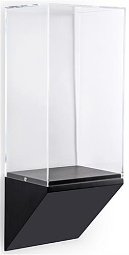 Museum pedestal wedge wall case with acrylic vitrine