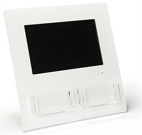 Gift card display with digital screen with two acrylic pouches