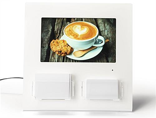 Gift card display with digital screen with two removable holders