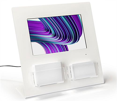 Gift card display with digital screen with removable slots