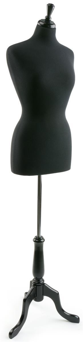 Displays2go Female Dress Form w/ Wooden Stand, Adjustable...