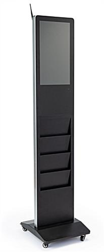 "Freestanding magazine rack digital signage with 21.5"" HD Screen"