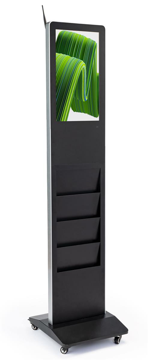 Freestanding Magazine Rack Digital Signage Video Wifi Capable
