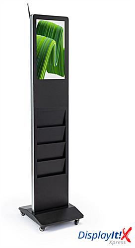 Magazine rack digital display system with DisplayIt! Express Software