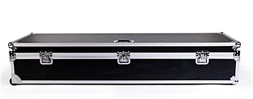Black travel case for DG21 digital magazine displays with sleek and modern design
