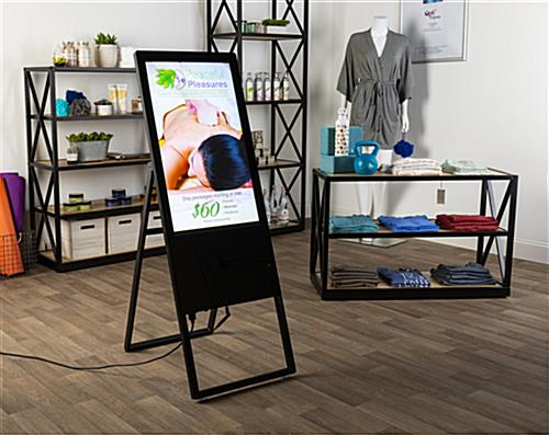 Retail Store Interior with Digital Folding A-Frame Sign