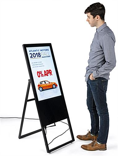 collapsible digital signage ad display with plug n play capabilities