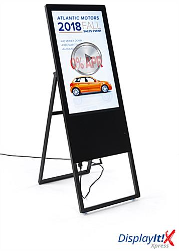 collapsible digital signage ad display with content management software