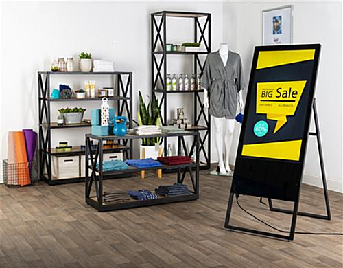 digital sandwich board for retail