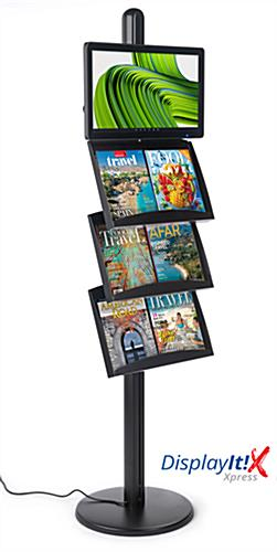 Brochure stand with digital sign with Android 7.1 operating system