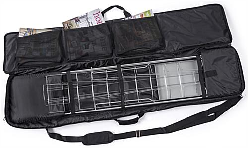 NCYBRCHSLV rack and magazines inside literature stand carry bag