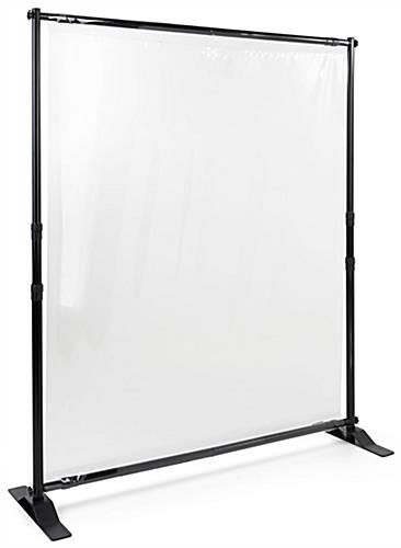 Sneeze shield room divider with waterproof and tear-resistant screen