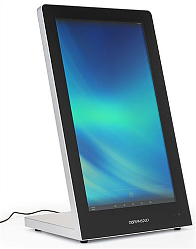 Touchscreen tabletop kiosk supports full HD video format