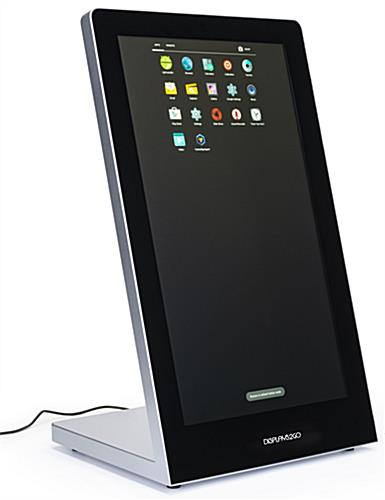 Touchscreen tabletop kiosk with high capacity memory