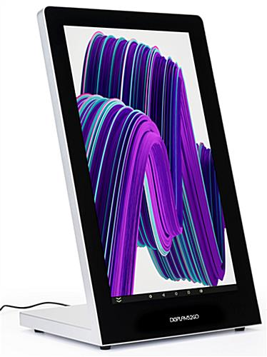 Touchscreen tabletop kiosk with LCD touch display