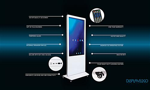 Feature rich 55-inch advertising multimedia kiosk