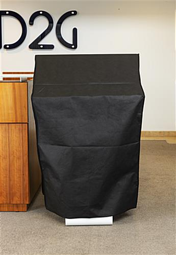 "32"" digital signage dust cover with flame resistant material"