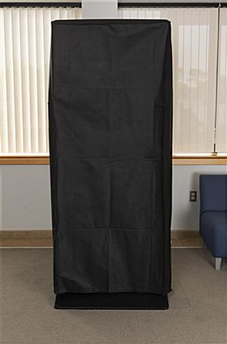 "55"" digital kiosk dust cover with overall height of 75 inches"