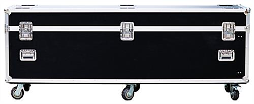 LED poster screen transport case with built-in handles