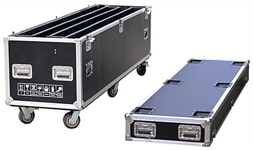 LED poster screen transport case with 330 pound weight capacity
