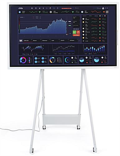 Interactive digital flipchart display with InGlass screen