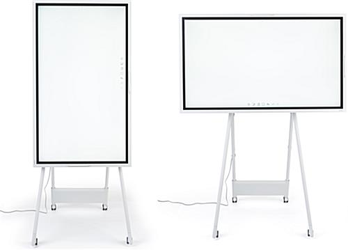 Interactive digital flipchart display with vertical or horizontal screen orientation