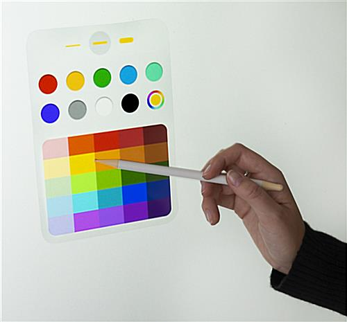 Interactive digital flipchart display with multiple writing color options